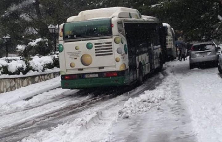 Πως θα κινηθούν τα λεωφορεία λόγω χιονιά