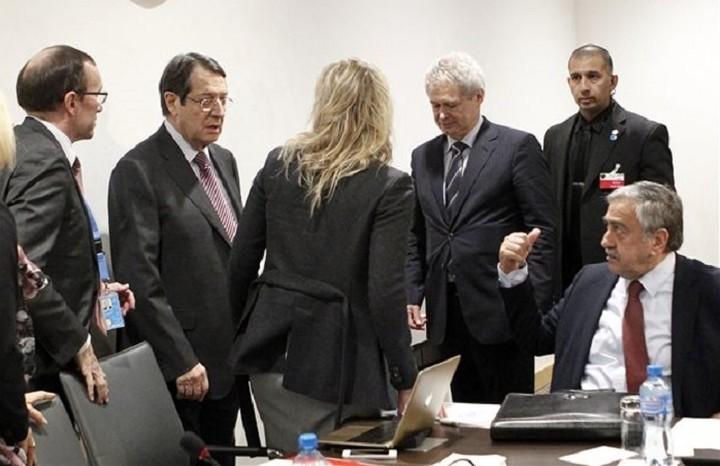 Ολοκληρώθηκε το πρώτο μέρος της διάσκεψης για το Κυπριακό