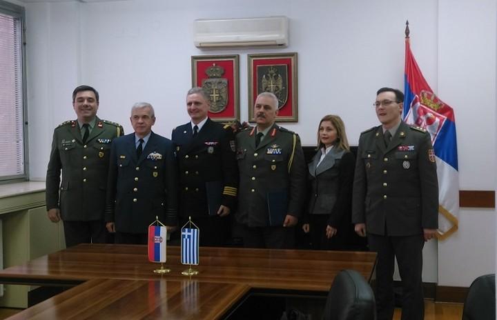 Υπεγράφη στρατιωτική συνεργασία μεταξύ Ελλάδας- Σερβίας