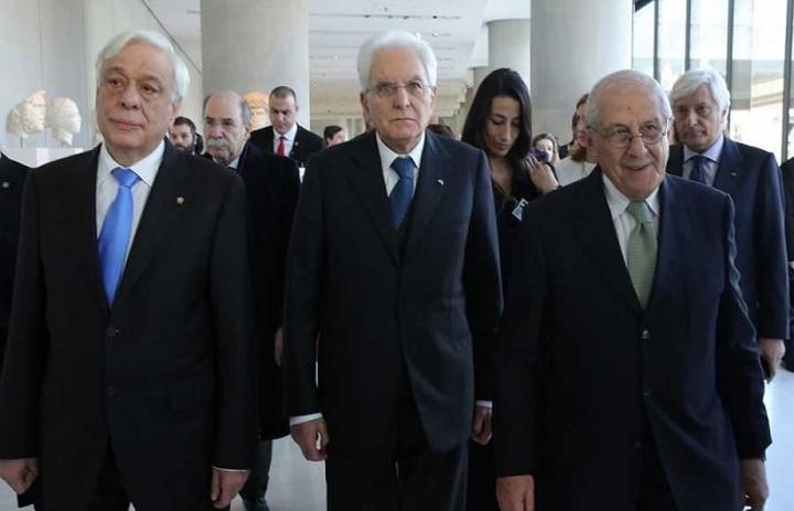 Το Μουσείο της Ακρόπολης επισκέφτηκαν Παυλόπουλος και Ματαρέλα