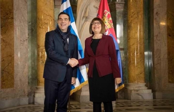 Για την ενίσχυση των σχέσεων Ελλάδας και Σερβίας συζήτησαν Τσίπρας -Γκοΐκοβιτς