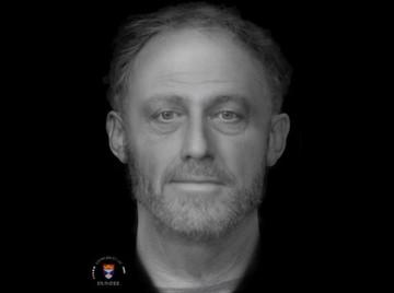 Πρόσωπο άνδρα που έζησε πριν από 700 χρόνια