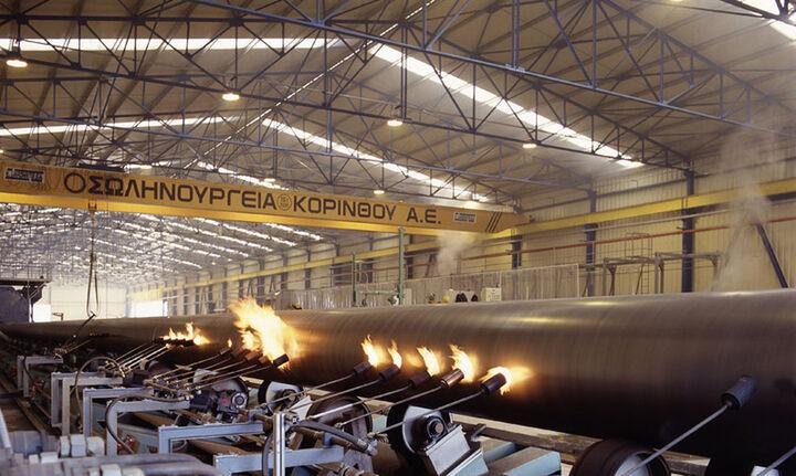 Έργο αγωγού φυσικού αερίου από τη Snam στη Σωληνουργεία Κορίνθου