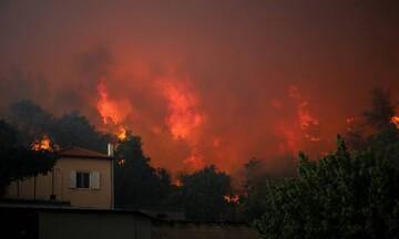 Εικόνες καταστροφής από την Εύβοια