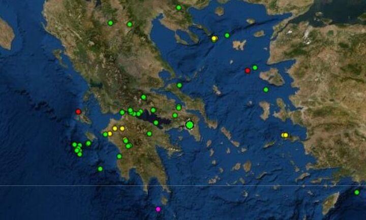 Σεισμική δόνηση αισθητή στην Αθήνα