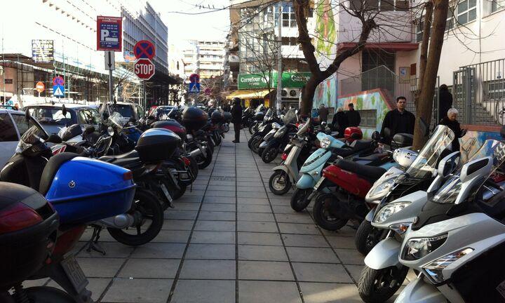 Σχέδια για parking μοτοσικλετών στις πόλεις