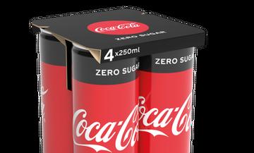 H Coca-Cola HBC καταργεί την πλαστική μεμβράνη στις πολυσυσκευασίες αλουμινίου