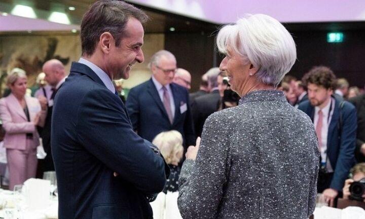 Μητσοτάκης-Λαγκάρντ: Στο τραπέζι κόκκινα δάνεια και πλεονάσματα