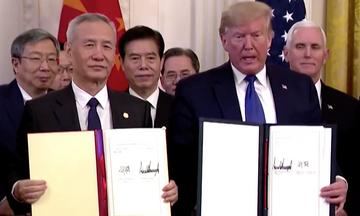 Υπεγράφη η πρώτη φάση της συμφωνίας ΗΠΑ - Κίνας