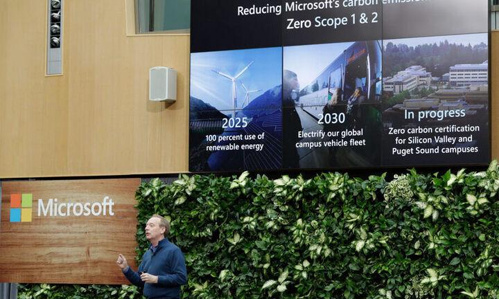 Η Microsoft βάζει «πράσινο» στόχο