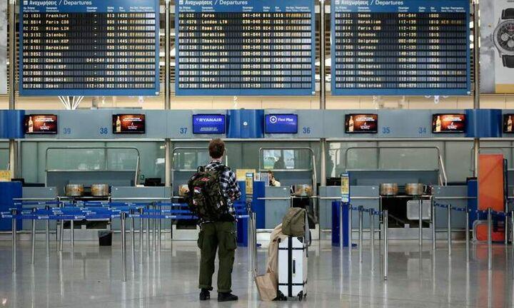 """""""Βουτιά"""" 59% στην επιβατική κίνηση σε όλα τα ελληνικά αεροδρόμια τον Μάρτιο"""