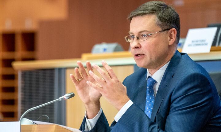Ντομπρόβσκις: Χρηματοδότηση της ανάκαμψης με 1,5 τρισ. μέσω ομολόγων