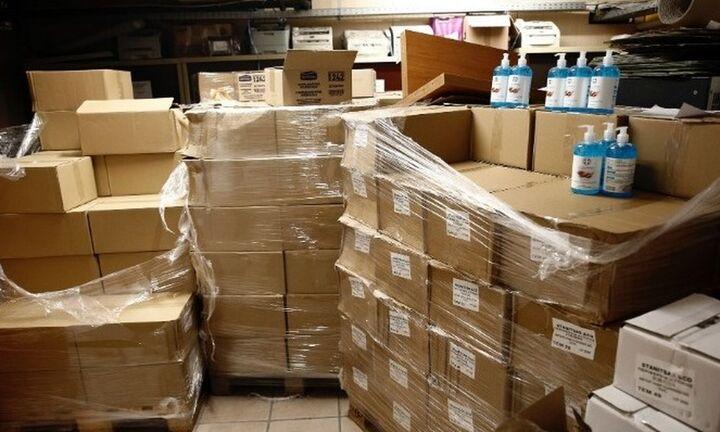 Νέα μεγάλη ποσότητα αντισηπτικών σε παράνομο παρασκευαστήριο στο Μενίδι