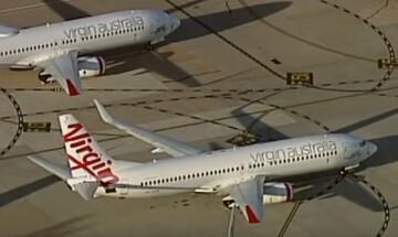 Ανώμαλη προσγείωση για την Virgin Australia λόγω πανδημίας