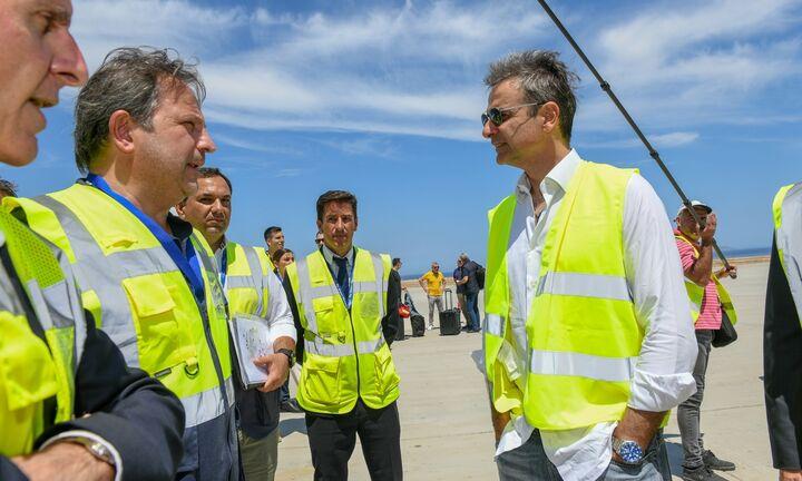 Προχωρούν τα έργα στο αεροδρόμιο της Σαντορίνης