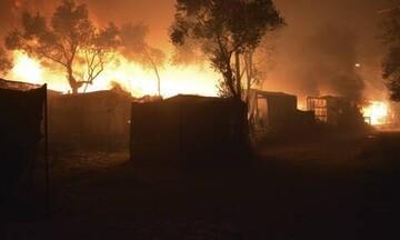 Εικόνες σοκ από την καταστροφική πυρκαγιά στη Μόρια
