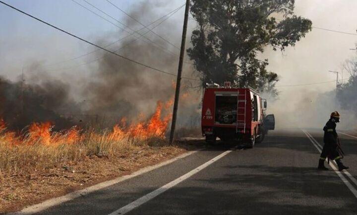 Σε εξέλιξη πυρκαγιά στον Νέο Βουτζά -Σε ύφεση στην Κερατέα