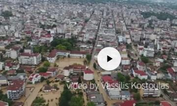 Εικόνες καταστροφής στην Καρδίτσα