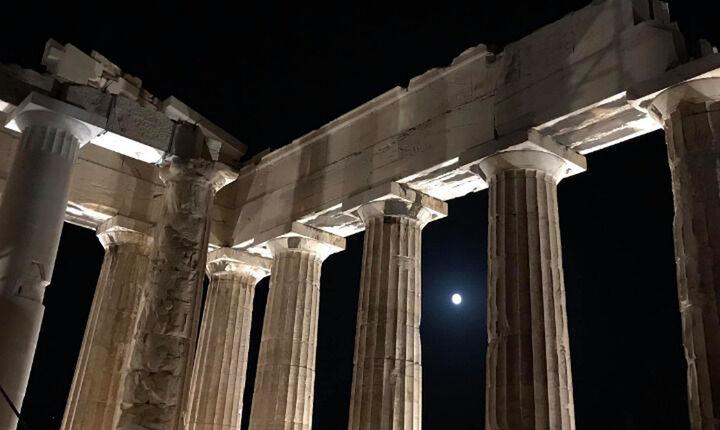 Τρεις «σφιχτοί» πρωθυπουργοί στην Αθήνα και στο βάθος… Ακρόπολη