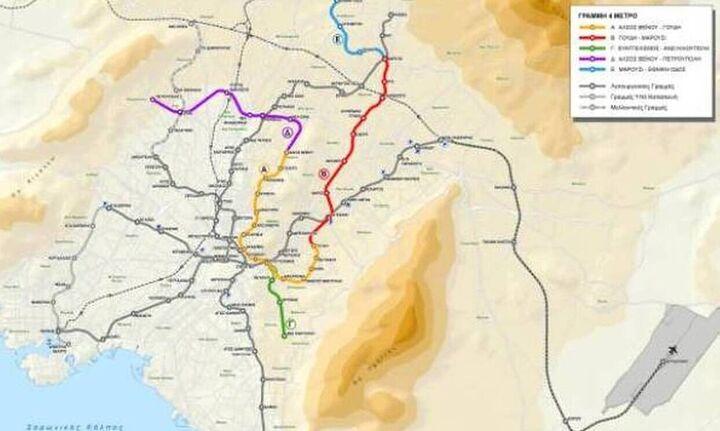 Δεκτή η προσφορά των Άβαξ, Ghella και Alstom για την γραμμή 4 του μετρό - Οι νέοι σταθμοί