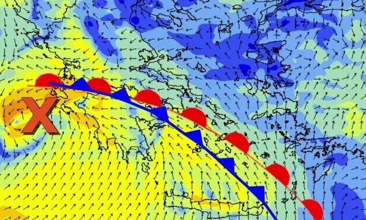Μαρουσάκης: Τετάρτη-Πέμπτη θα πέσουν έως και 50 τόνοι βροχής-Η Αττική στο επίκεντρο της κακοκαιρίας