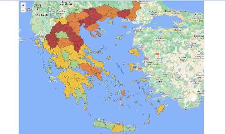 Στα «κόκκινα» η μισή χώρα - Επιπλέον μέτρα ανακοινώνονται σήμερα