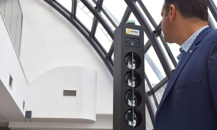 Στη Βουλή η «πόρτα ανέπαφης θερμομέτρησης» της Alumil