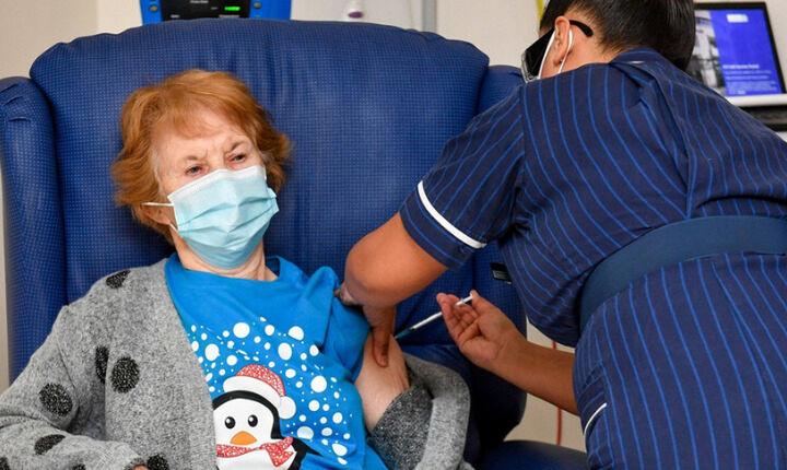 Ημέρα ελπίδας - Ξεκίνησαν οι εμβολιασμοί κατά του κορονοϊού στη Βρετανία