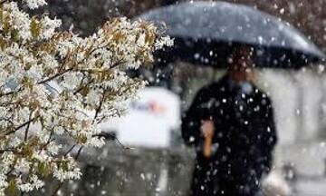 Ανοιξιάτικος χιονιάς με βροχές και ισχυρούς βοριάδες την Τετάρτη