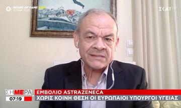 Μανωλόπουλος για εμβόλιο AstraZeneca: Ξεκάθαρο μήνυμα ΕΜΑ - Μονόδρομος τα ηλικιακά όρια