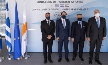 Τετραμερής συνάντηση των ΥΠΕΞ Ελλάδας - Κύπρου - Ισραήλ - Ηνωμένων Αραβικών Εμιράτων