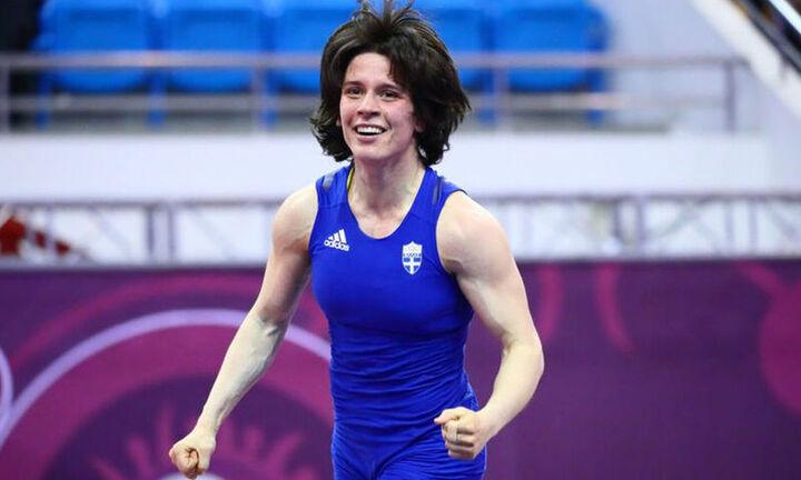 """""""Ασημένια"""" η Mαρία Πρεβολαράκη στο Eυρωπαϊκό Πρωτάθλημα Πάλης"""