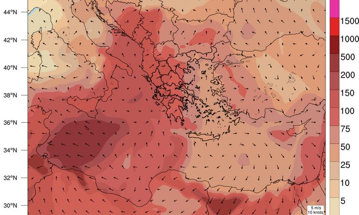 Ο καιρός την Μεγάλη Πέμπτη: Αυξημένη σκόνη στην ατμόσφαιρα - Ανεβαίνει η θερμοκρασία