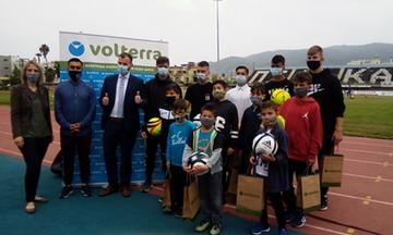 Τα παιδιά της Κιβωτού του Κόσμου στο γήπεδο της ΠΑΕ Καλαμάτας με πρωτοβουλία της Volterra