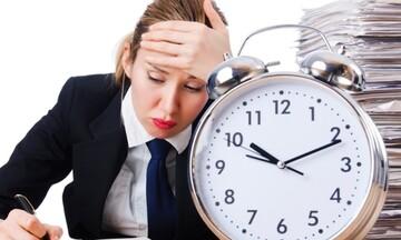 Προσοχή! Κίνδυνος - θάνατος για όσους δουλεύουν πάνω από 55 ώρες την εβδομάδα