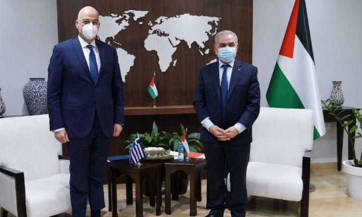 Ν. Δένδιας: Ενημερώνει την Ε.Ε. για τις συνομιλίες με Ισραηλινό ΥΠΕΞ και Παλαιστίνιο πρωθυπουργό