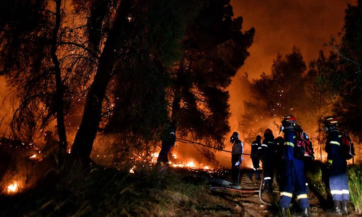 Πυρκαγιά στο Σχίνο Κορινθίας- Ζημιές σε σπίτια - Εκκενώθηκαν οικισμοί