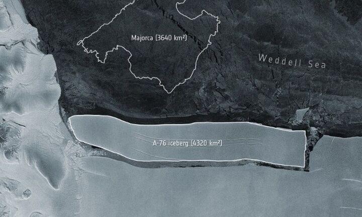 Ανταρκτική: Αποκολλήθηκε από παγετώνα το μεγαλύτερο παγόβουνο του κόσμου