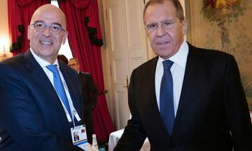 Νίκος Δένδιας: Σε θερμό κλίμα η συνάντηση του με τον Σεργκέι Λαβρόφ στο Σότσι
