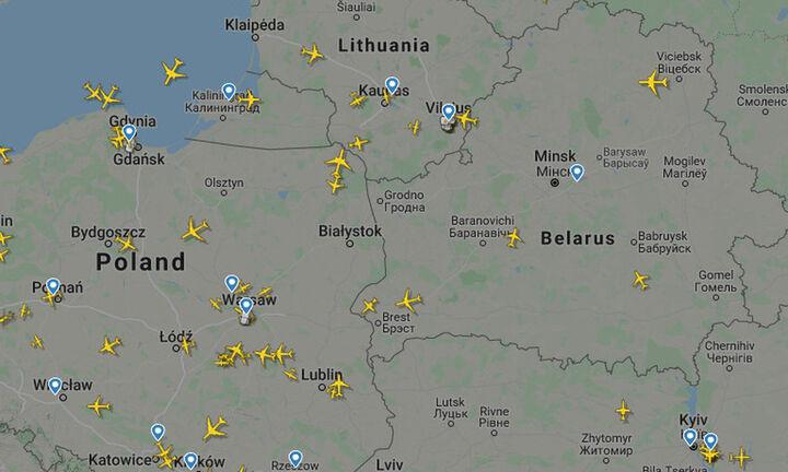Ερήμωσε ο ουρανός της Λευκορωσίας μετά τις κυρώσεις