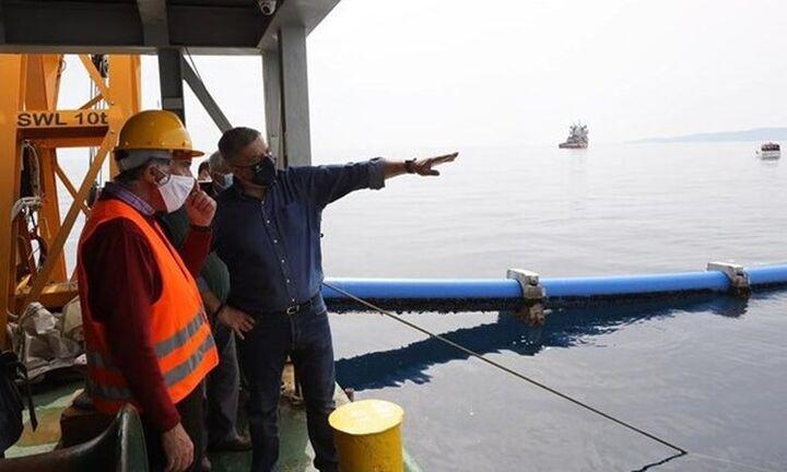 Ολοκληρώθηκε η πόντιση του υποθαλάσσιου αγωγού υδροδότησης της Αίγινας - Έργο ύψους 21,5 εκ. ευρώ
