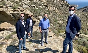 ΑΔΜΗΕ: Επίσκεψη εργασίας στην Τήνο για την κατασκευή υποσταθμού Υψηλής Τάσης