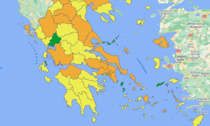 Από σήμερα στο covid19.gov.gr ο νέος διαδραστικός επιδημιολογικός χάρτης
