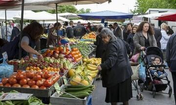 Λαϊκές αγορές: Καταργείται η απόσταση των 5 μέτρων μεταξύ πάγκων - Υποχρεωτικό το self test