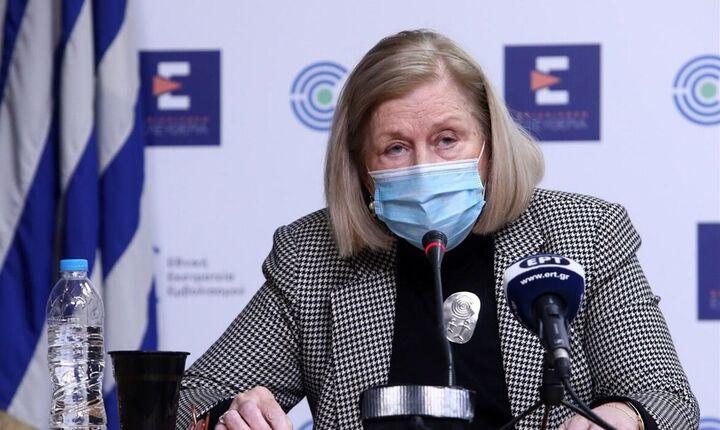 Μ. Θεοδωρίδου: Για τους άνω των 60 το εμβόλιο AstraZeneca