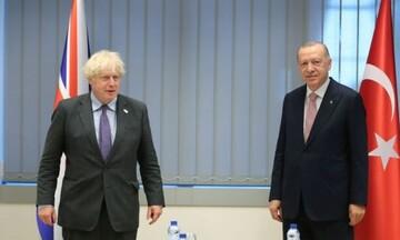 Κυπριακό και Ανατολική Μεσόγειος στην ατζέντα συνάντησης Τζόνσον - Ερντογάν