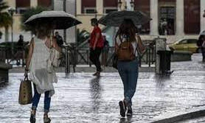 Αστάθεια του καιρού με βροχές και χαλάζι και σήμερα σε αρκετές περιοχές