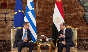 Ενδυναμώνεται η ελληνοαιγυπτιακή συνεργασία - Τι δήλωσαν Μητσοτάκης, Αλ Σίσι μετά τη συνάντηση τους