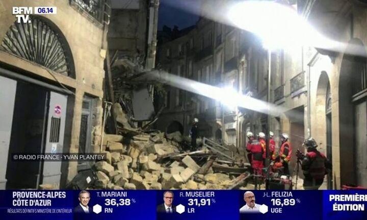 Τρεις τραυματίες από κατάρρευση δύο κτιρίων στο Μπορντό της Γαλλίας (vid)