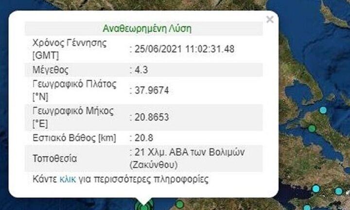 Έκτακτο: Σεισμός τώρα στη Ζάκυνθο